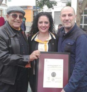Salvador Reina, Antonio Martín y Mari Carmen López.
