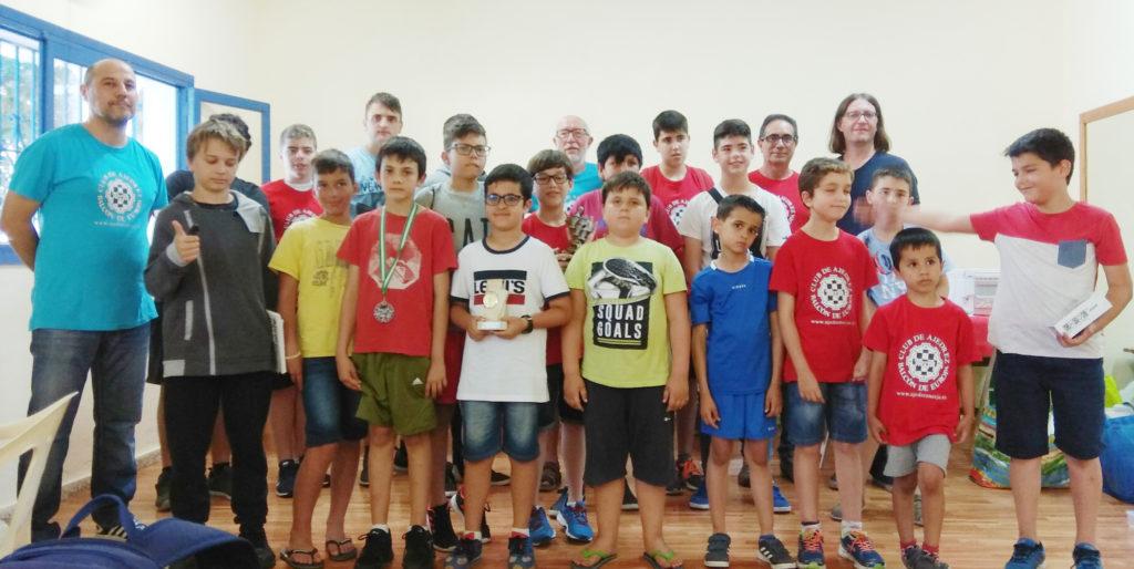Alumnos de la escuela de ajedrez 2018