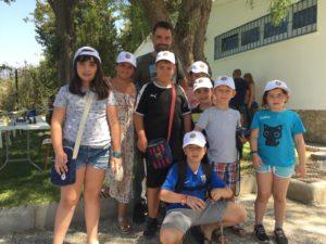Alumnos de la escuela de ajedrez Villa de Frigiliana.