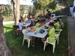 Alumnos jugando el torneo fin de curso 2019.