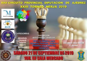 Cartel local XXXIII Open de Nerja Ajedrez 2019