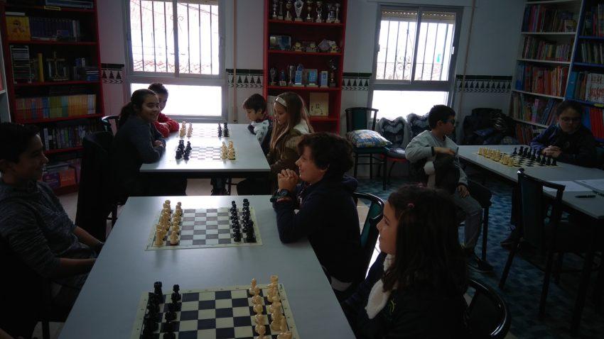 Participantes de los colegios Virgen del Mar y Joaquin Herrera.